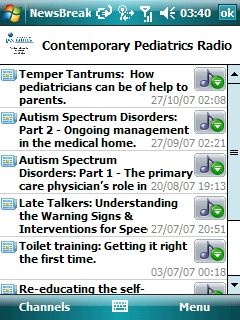Contemporary Pediatrics Radio as downloaded by NewsBreak