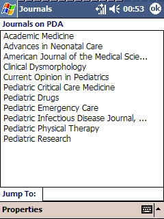 LWW Journals on PDA (selection of pediatric journals)