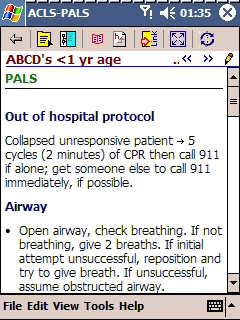 Skyscape ACLS-PALS (ABCD for infants)